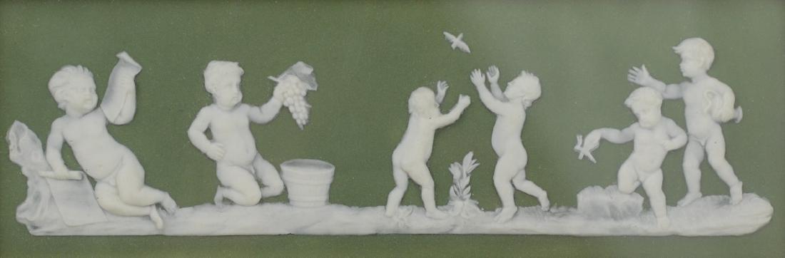 Wedgwood Green Jasperware Porcelain Plaque - 2
