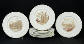"12 Wedgwood Plates of ""Old London Views"""