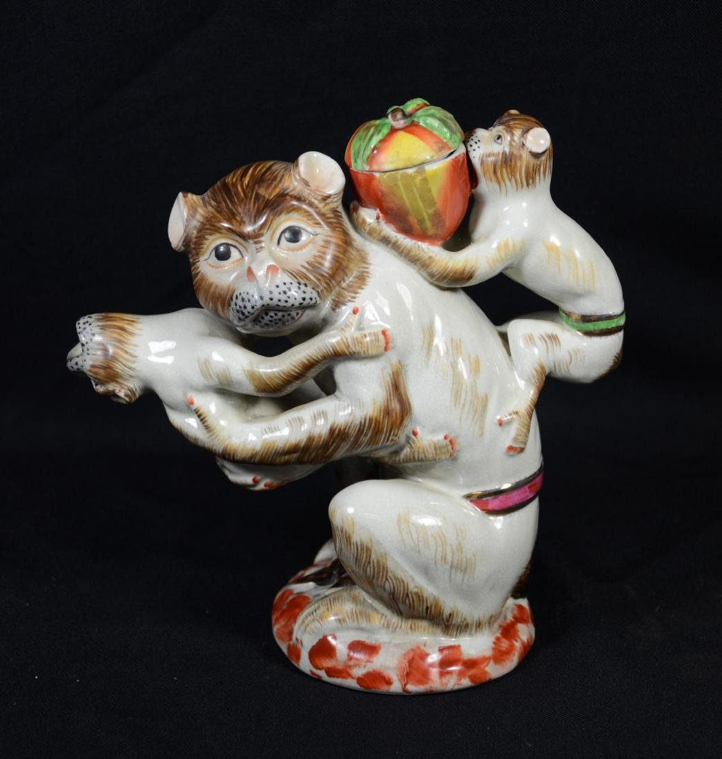 English Staffordshire Monkey Teapot