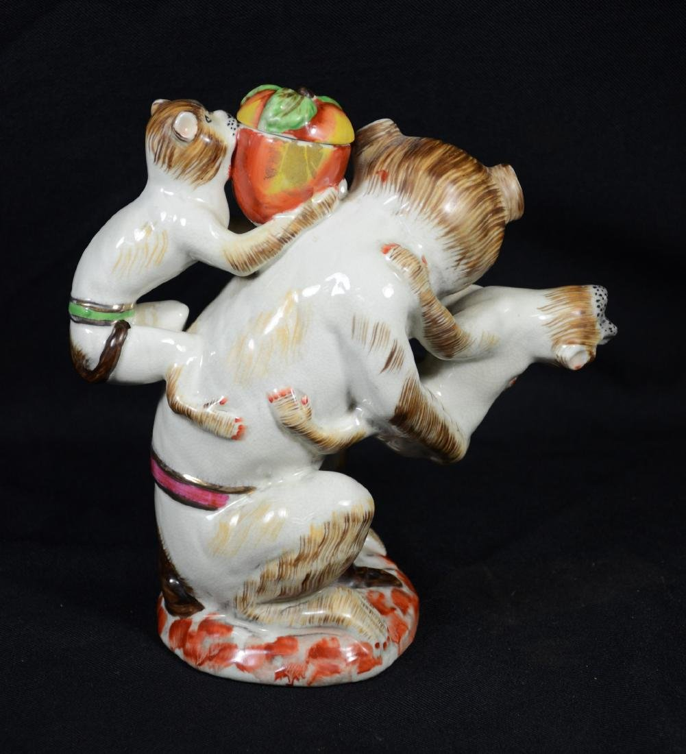 English Staffordshire Monkey Teapot - 3
