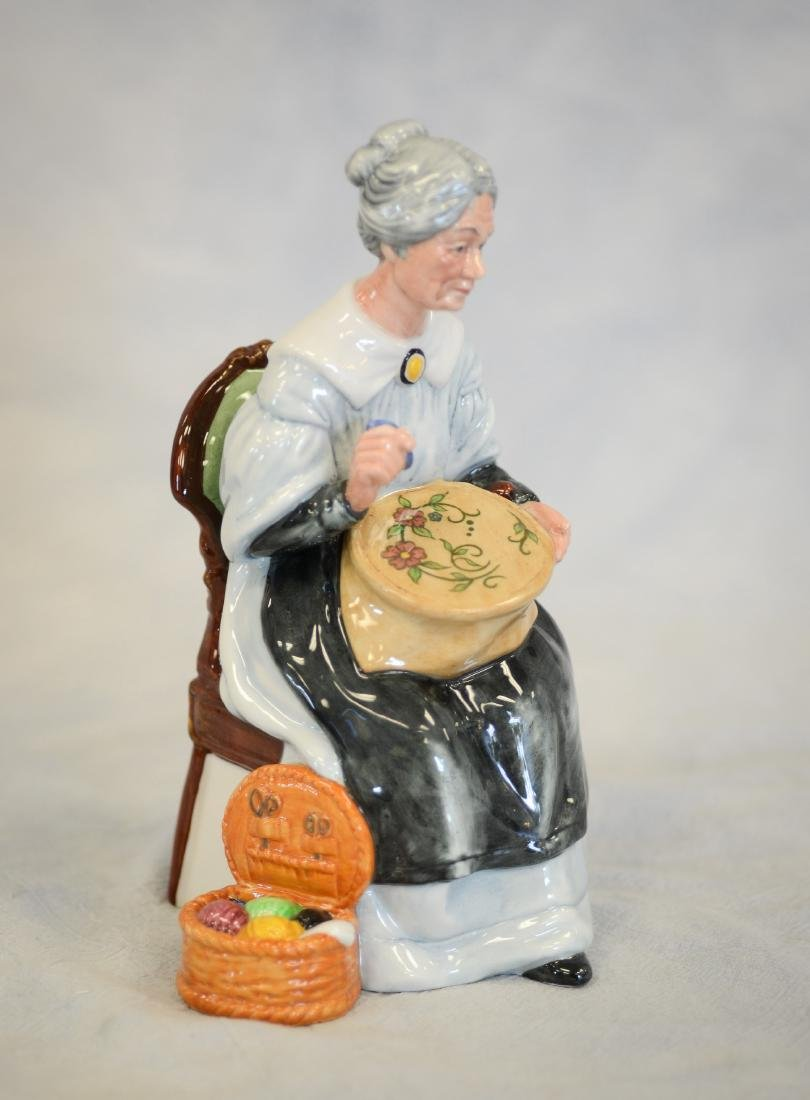 Royal Doulton Embroidering Figurine