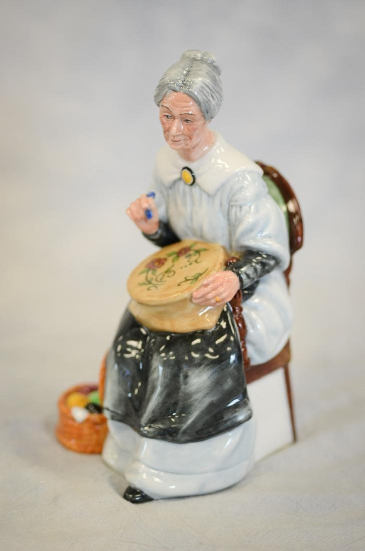 Royal Doulton Embroidering Figurine - 2