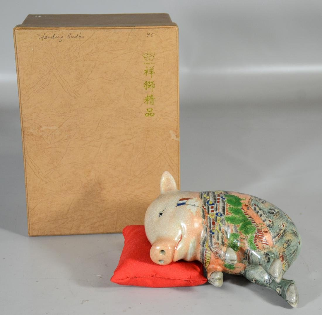 Chinese Pottery Pig