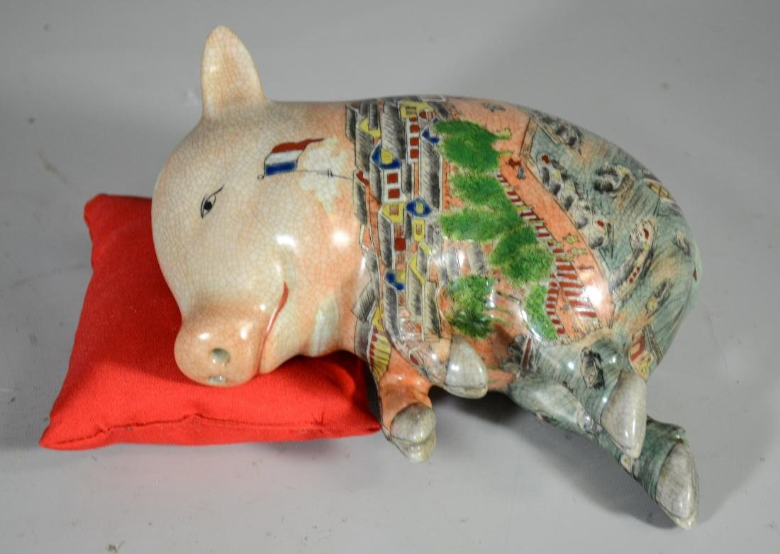 Chinese Pottery Pig - 2