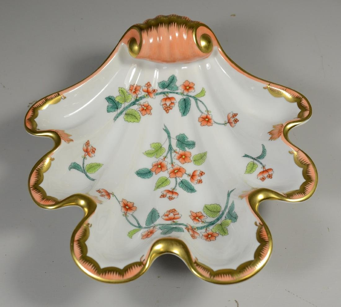 Herend Hungary Handpainted Porcelain Shell Dish
