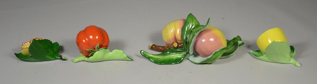 Herend Hungary Porcelain Fruit & Butterfly Figurines - 2
