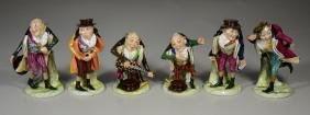 Six (6) Capodimonte Hunchback Figurines