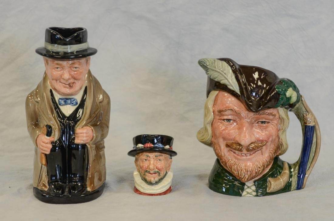 Three (3) Royal Doulton Toby Figurines