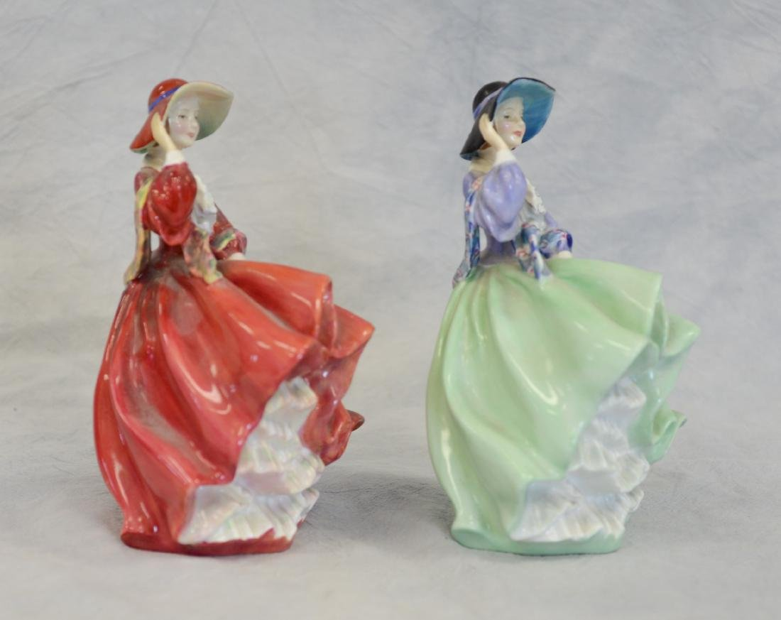 Two (2) Royal Doulton Top O'The Hill Figurines - 2