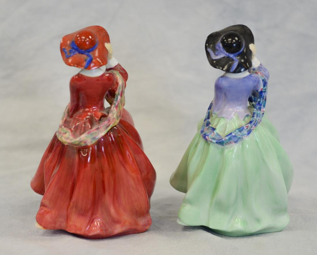 Two (2) Royal Doulton Top O'The Hill Figurines - 3