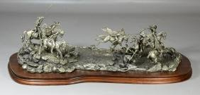 Donald Polland Pewter Sculpture Native Americans