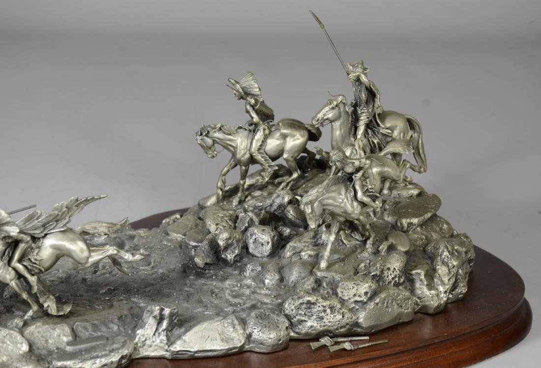 Donald Polland Pewter Sculpture Native Americans - 4