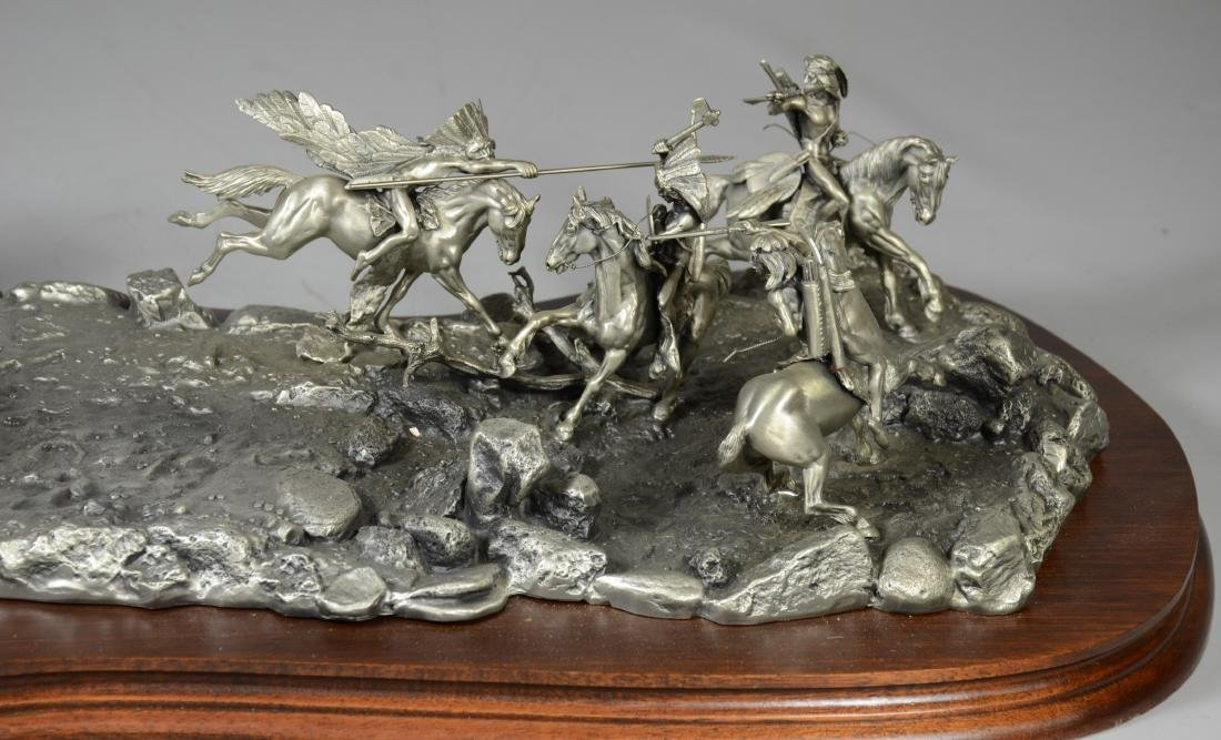 Donald Polland Pewter Sculpture Native Americans - 5