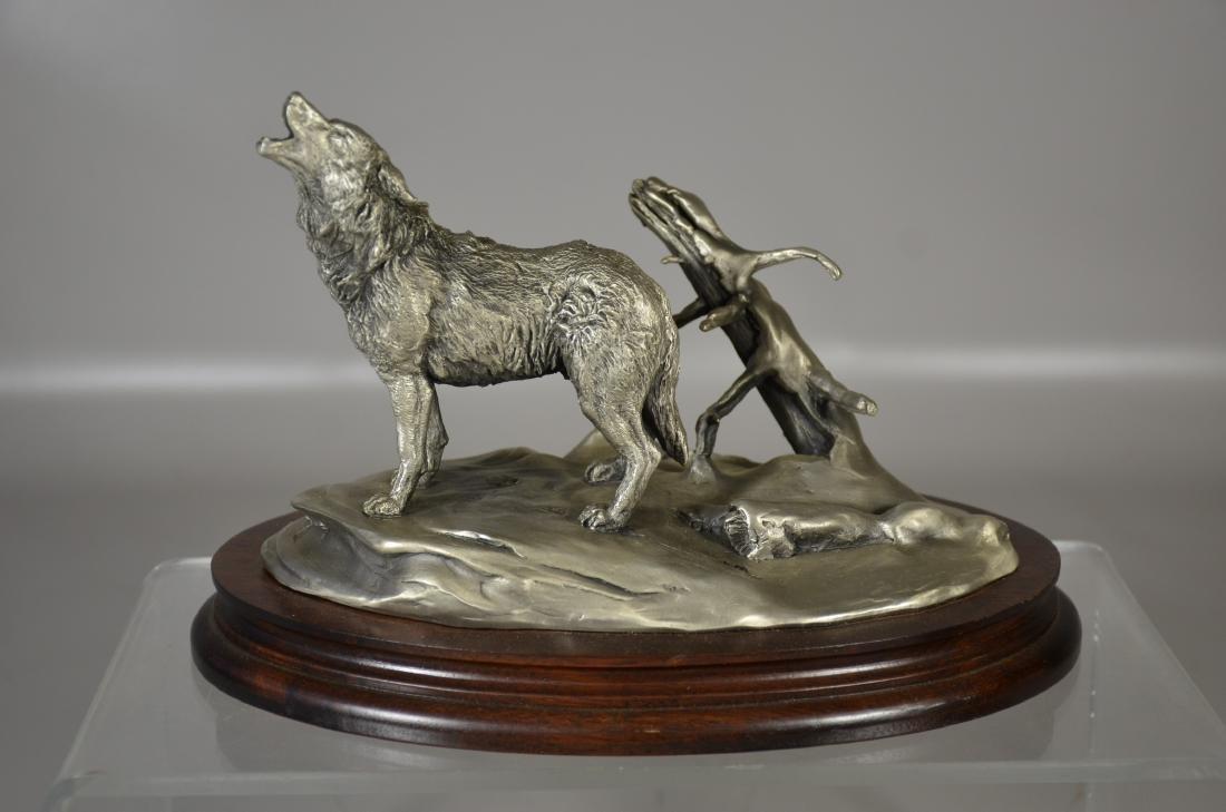 4 Glen Loates Pewter Wildlife sculptures - 6