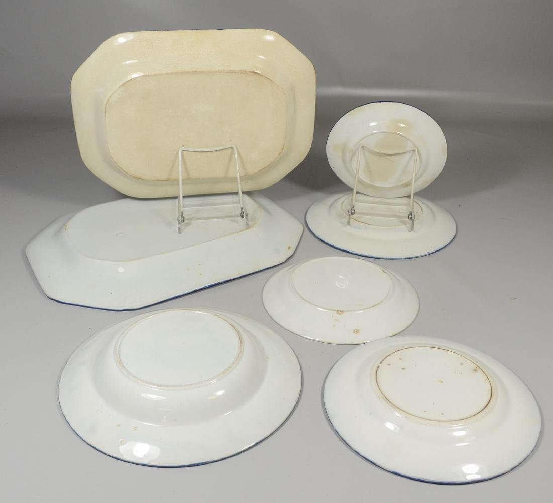 Seven Pieces of Leeds Feather Edge Pottery - 6