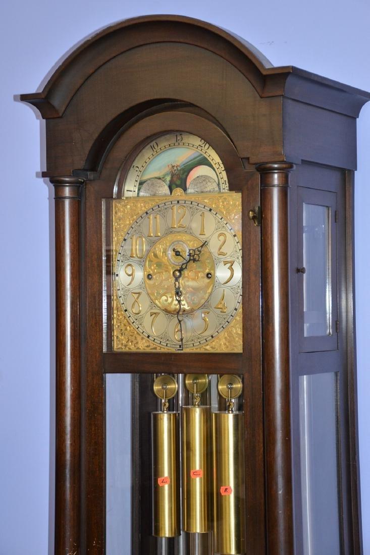 Mahogany Federal Style 9-Tube Chiming Hall Clock - 2