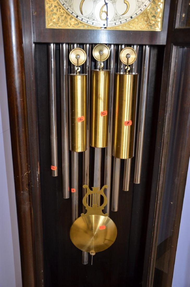 Mahogany Federal Style 9-Tube Chiming Hall Clock - 3