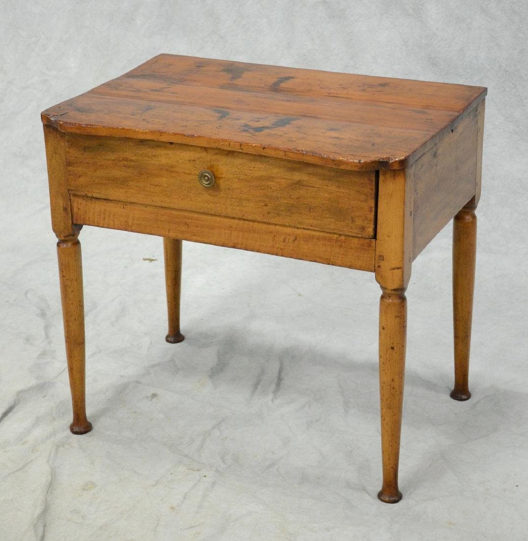 Pine & Maple One Drawer Stand