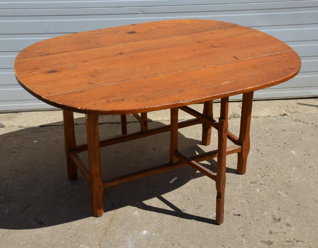 Country Pine Drop Leaf Table - 2