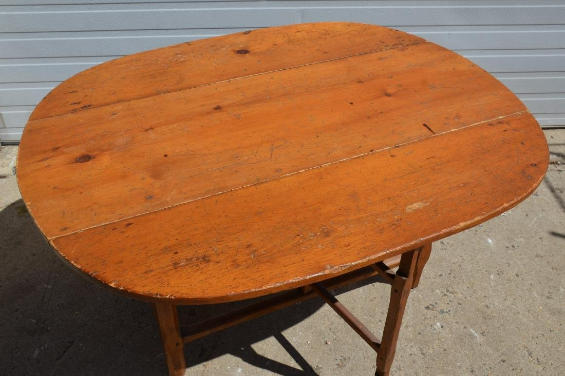 Country Pine Drop Leaf Table - 3