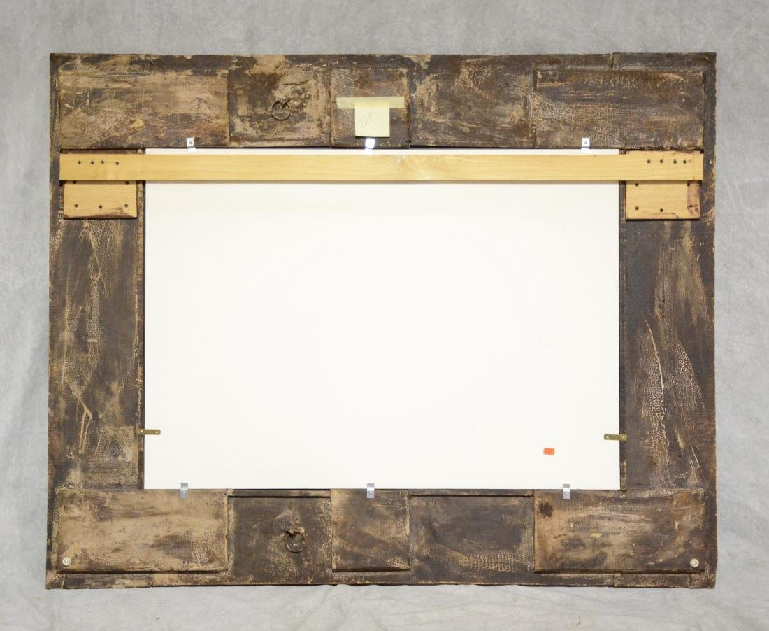 "19th c Italian pierce carved wood wall mirror, 58"" w - 3"