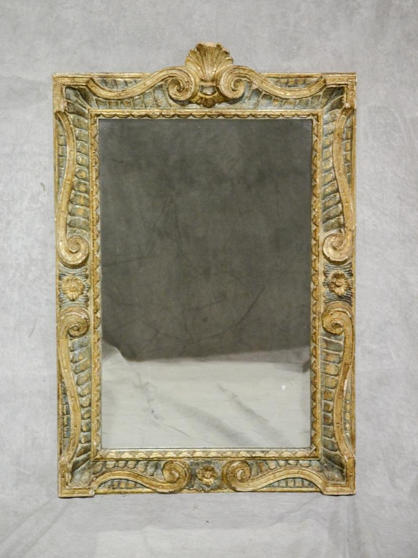 Carved gilt finished Continental wall mirror, 19th c