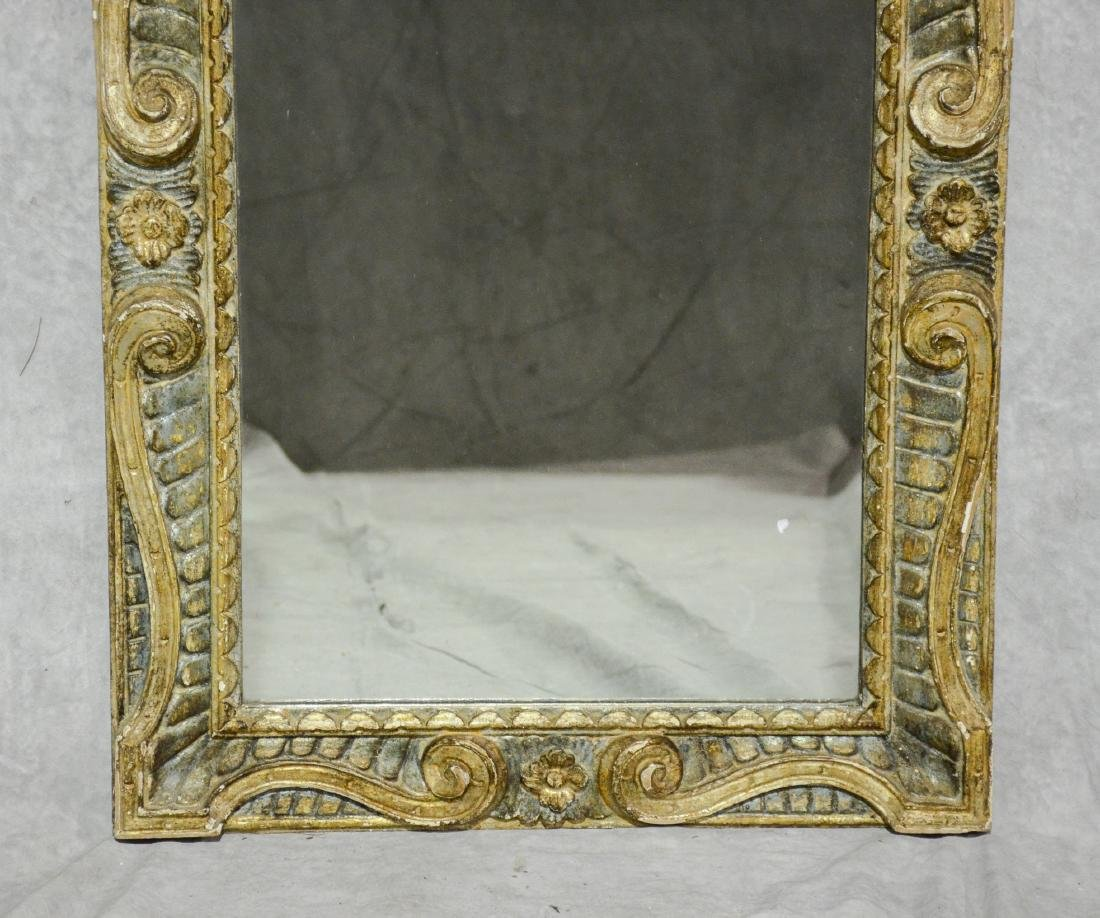 Carved gilt finished Continental wall mirror, 19th c - 3