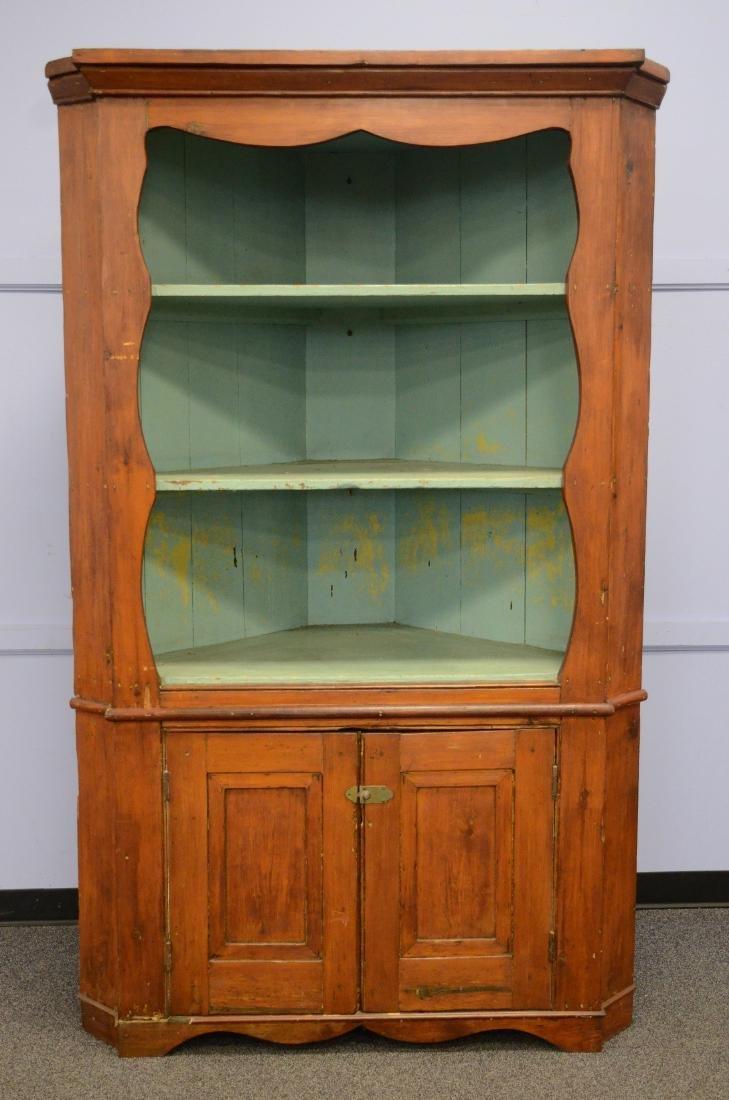 Open Front Corner Cupboard