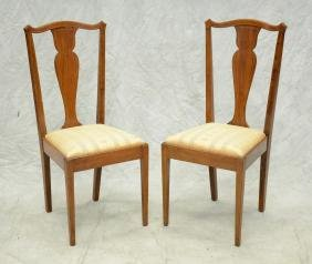 Pair of Mahogany Federal Style Dining Room Chairs
