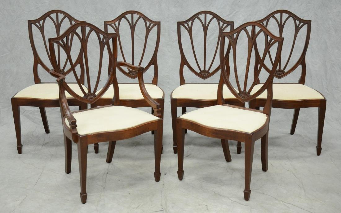 6 mahogany Hepplewhite style  DR chairs