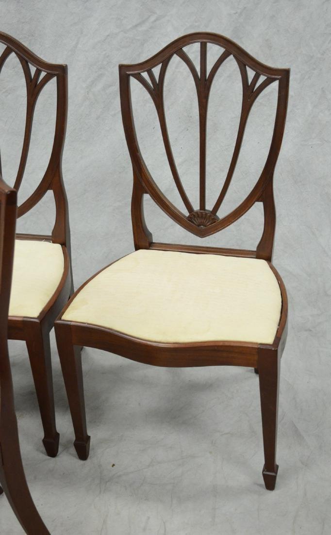 6 mahogany Hepplewhite style  DR chairs - 2