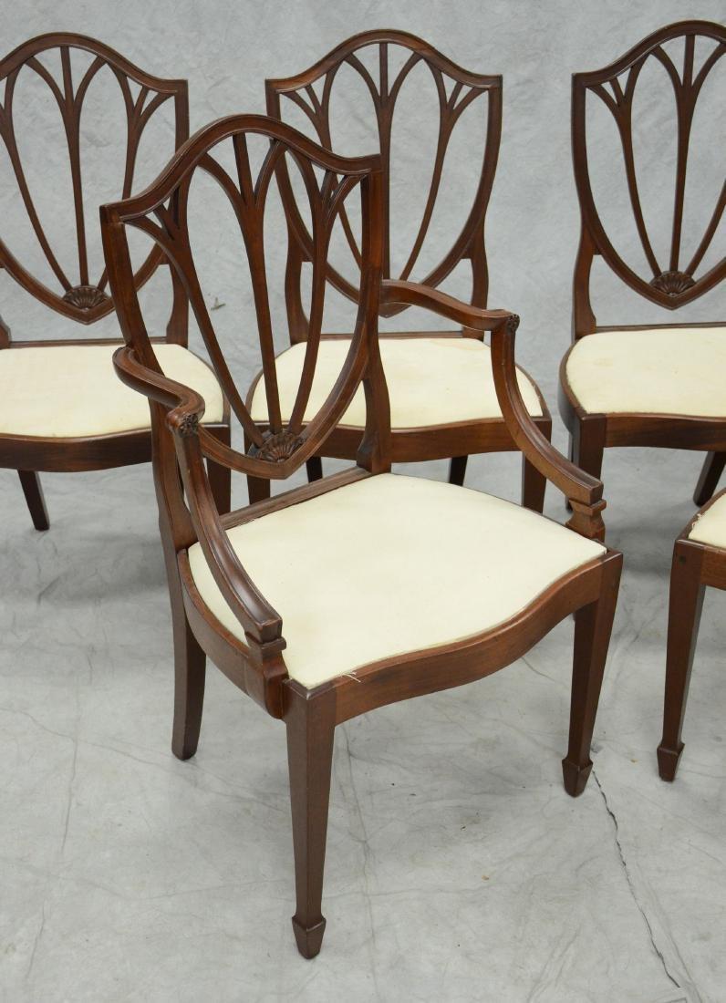 6 mahogany Hepplewhite style  DR chairs - 3