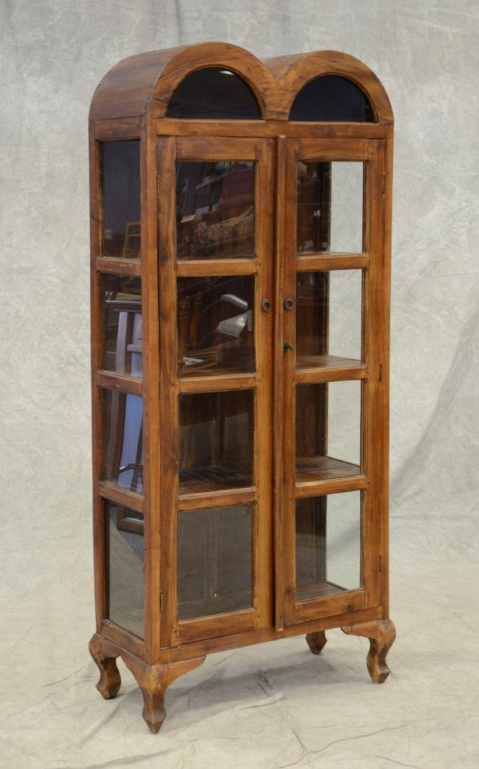 Asian style wood curio cabinet