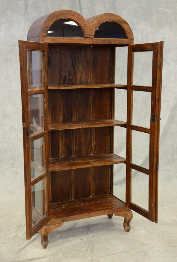 Asian style wood curio cabinet - 2