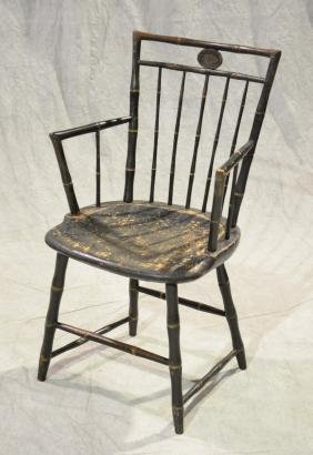Bamboo turned Windsor armchair