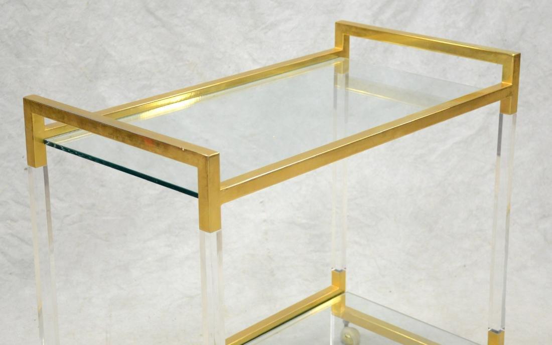 Romeo Rega Style Brass and Lucite Bar Cart - 2