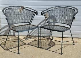 Pair of Iron Patio Chairs