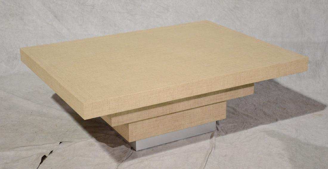 Rattan covered modern design coffee table
