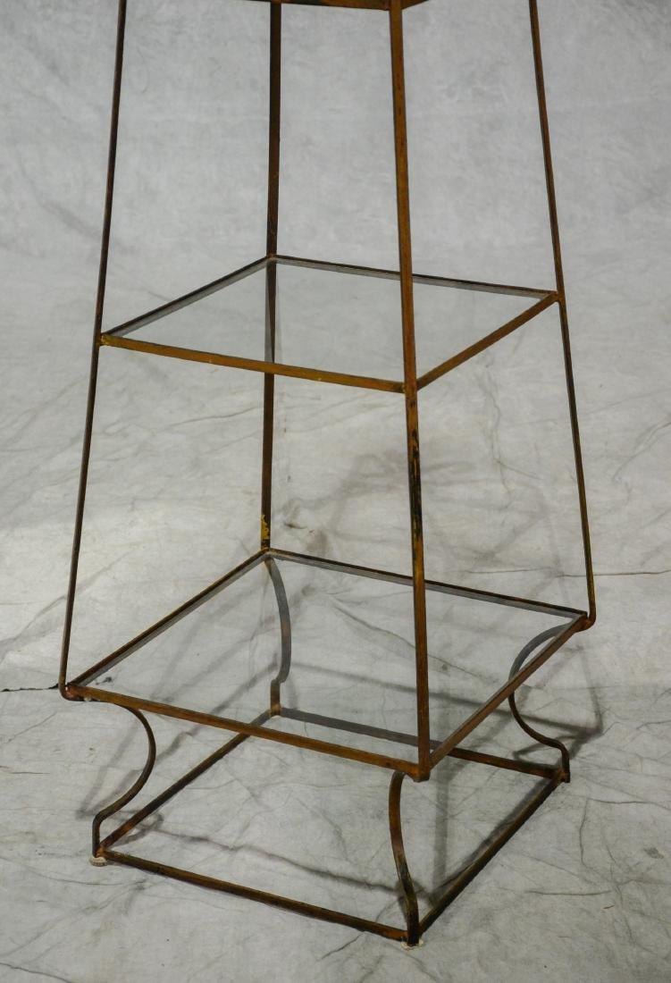 """Metal 4 tier plant or curio shelf, 66"""" h - 3"""
