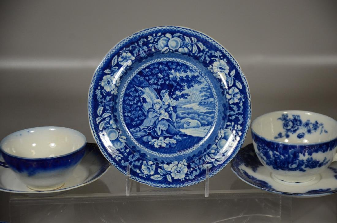 52 Pieces of English Blue and White Pottery - 2