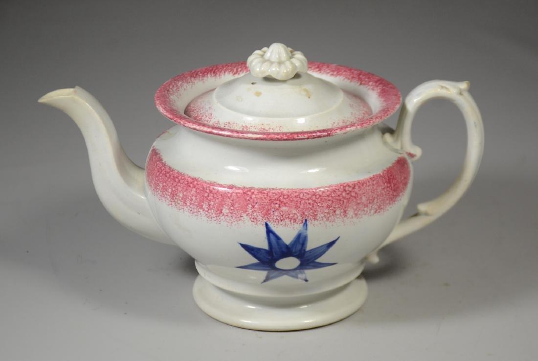 Sponge Decorated Soft Paste Teapot