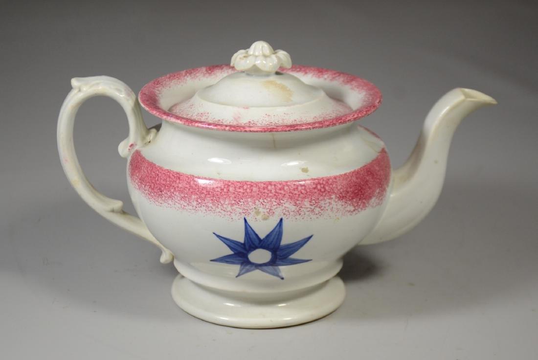 Sponge Decorated Soft Paste Teapot - 2