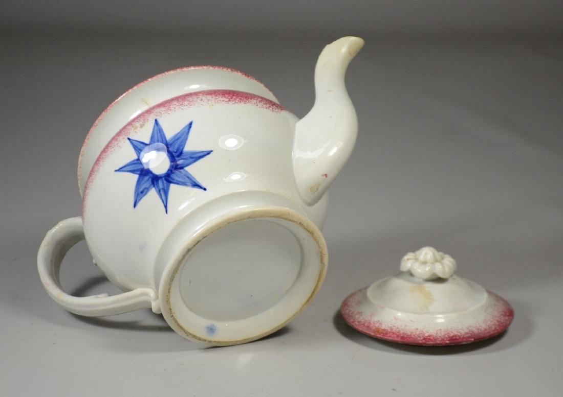Sponge Decorated Soft Paste Teapot - 3