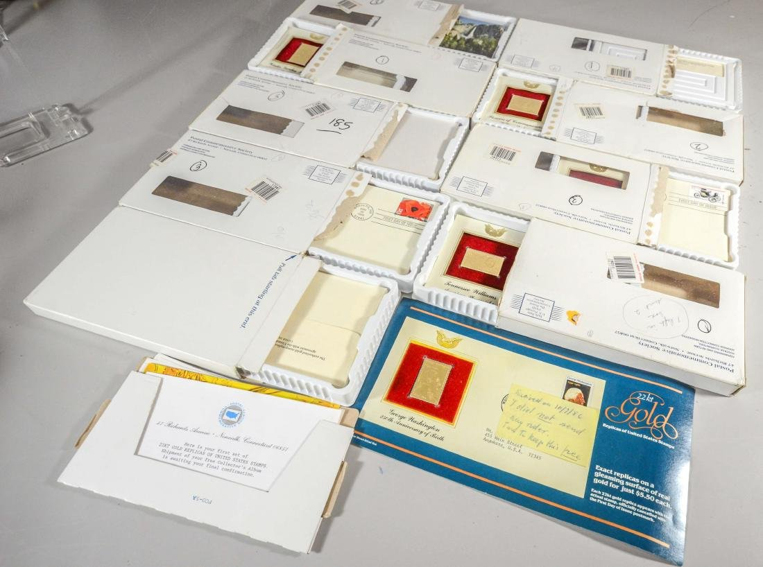 (21) Postal Commemorative Society 22K gold--stamped