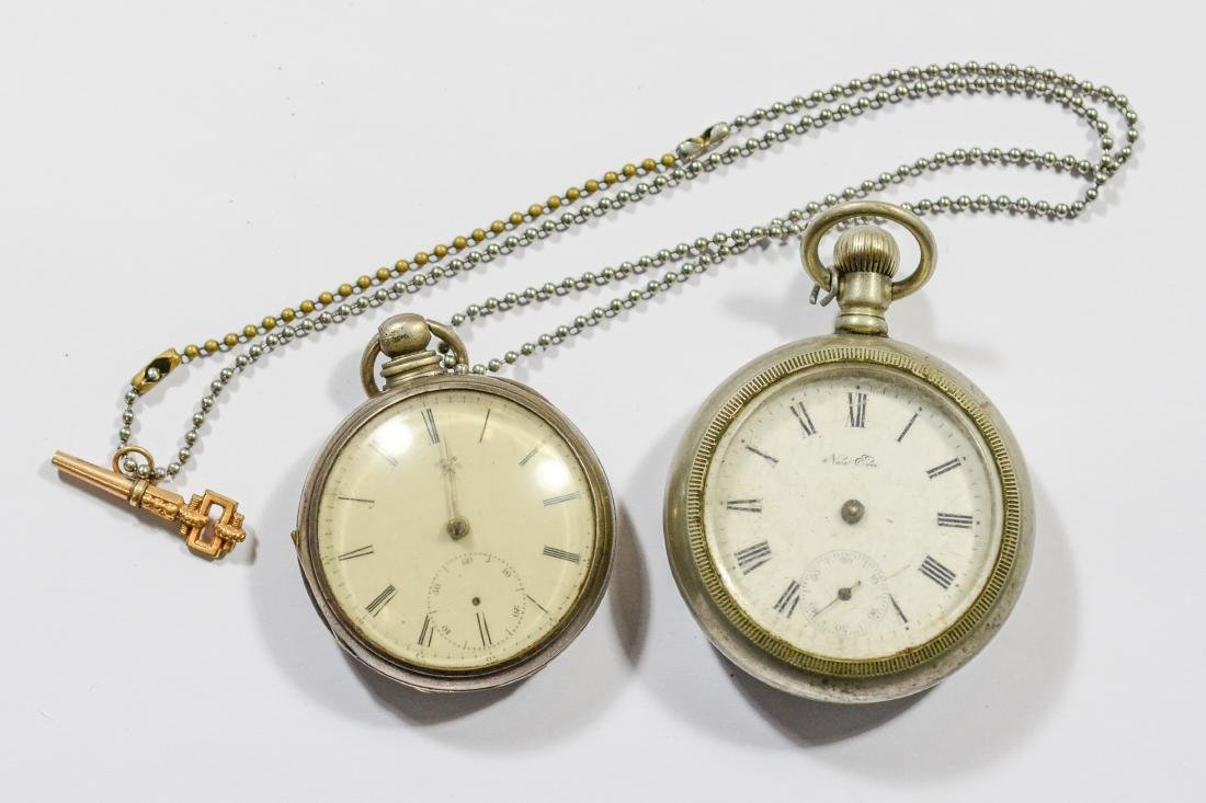 Silver fusee movement pocket watch, keywind, not