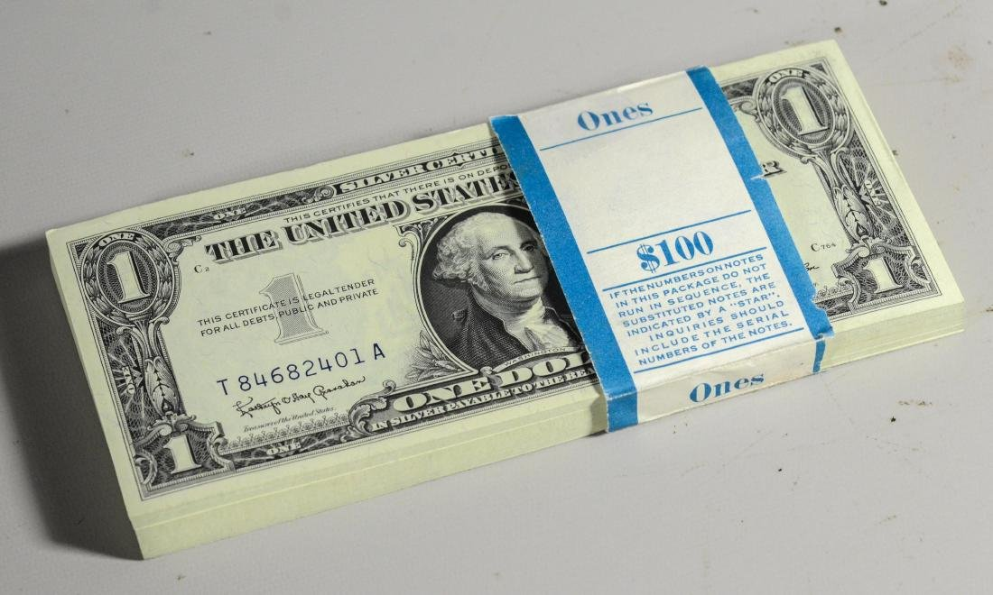 Series 1957B Silver Certificates, 100 consecutively