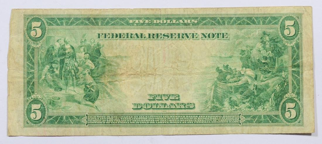 1914 Series $5 Federal Reserve Note, VG - 2