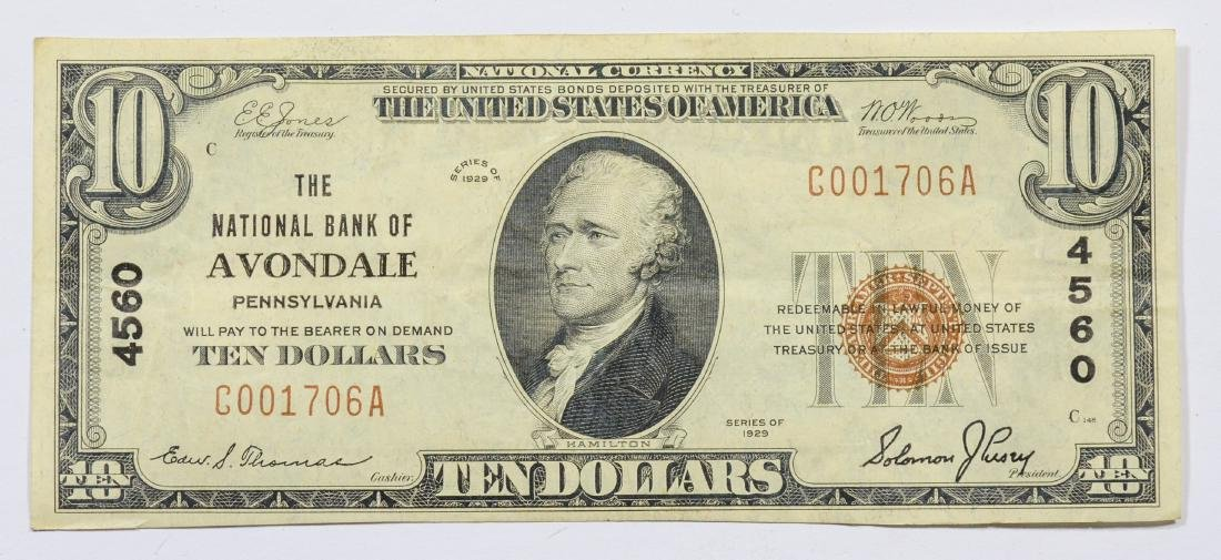 1929 Series $10 National Note, National Bank of