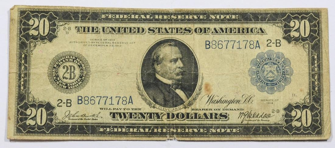 1914 $20 Federal Reserve Note, G