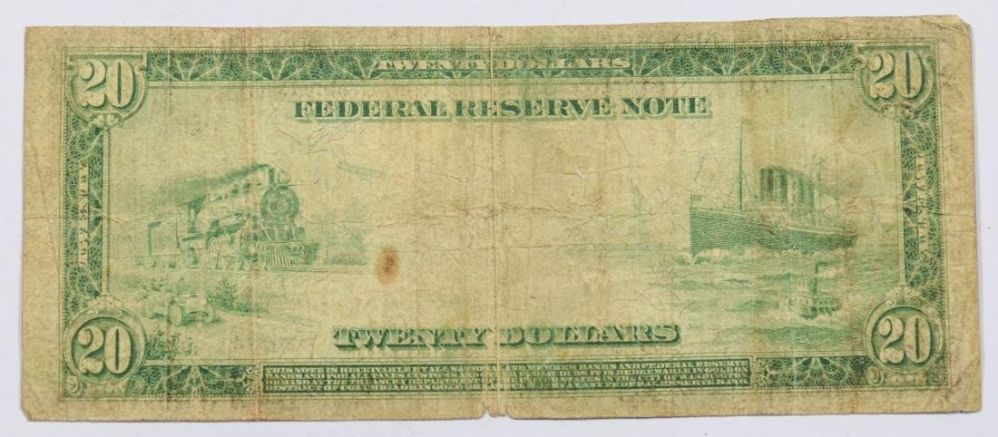 1914 $20 Federal Reserve Note, G - 2